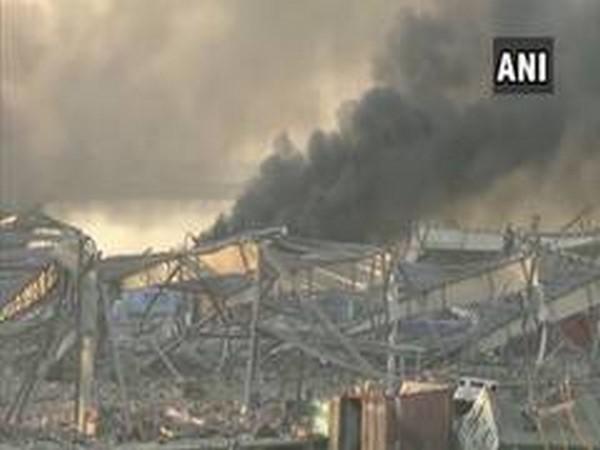 Visuals of the blast in Beirut, Lebanon