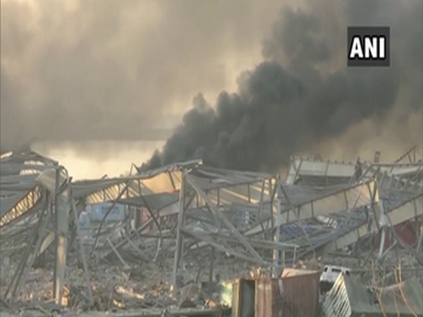 Visuals of the blast in Beirut, Lebanon.