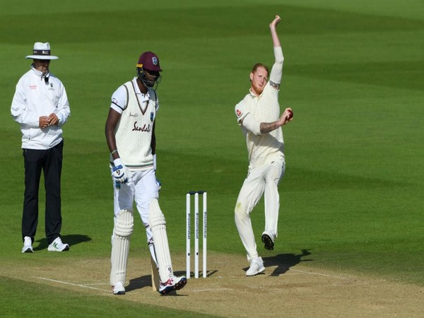 England all-rounder Ben Stokes in action against Windies. (Photo/ICC Twitter)