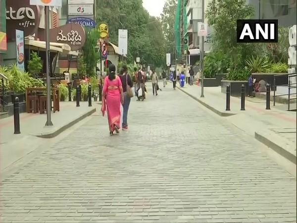 Bengaluru Church Street (Photo ANI)