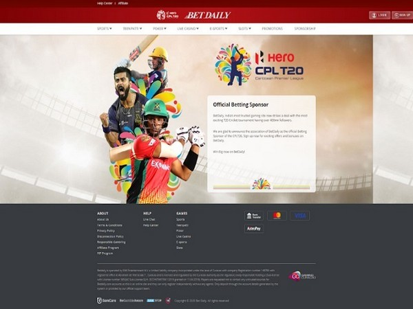 Bet Daily collaborates with Caribbean Premier League (CPL)