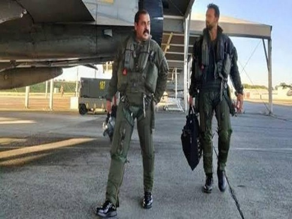 File pic of Air Chief Marshal RKS Bhadauria while flying a Rafale aircraft in France