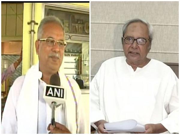 Chhattisgarh Chief Minister Bhupesh Baghel and Odisha Chief Minister Naveen Patnaik (File pic)