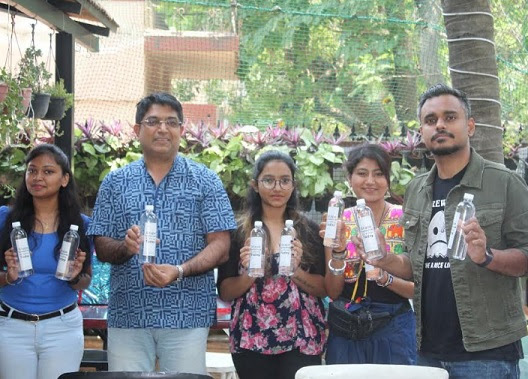 Students with ADGP Bhaskar Rao