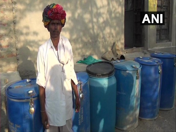 Residents of Parasrampura village in Hurda collect water in a drum and keep it locked to prevent stealing of water