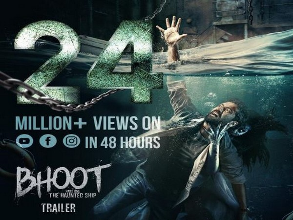 A poster of the upcoming movie 'Bhoot: The Haunted Ship' shared by Karan Johar (Image courtesy: Twitter)