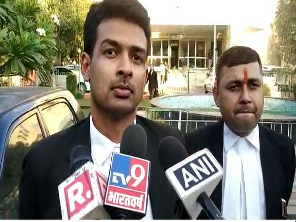 Advocate Vivek Vijay Choudhary speaking to reporters in Bhopal on Wednesday. Photo/ANI