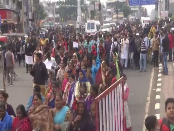 A view of awareness rally against food adulteration in Bhopal on Sunday. Photo/ANI