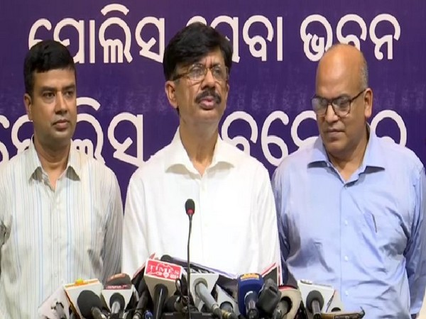 Odisha Director General of Police (DGP) Abhay at a Press conference on Thursday. Photo/ANI