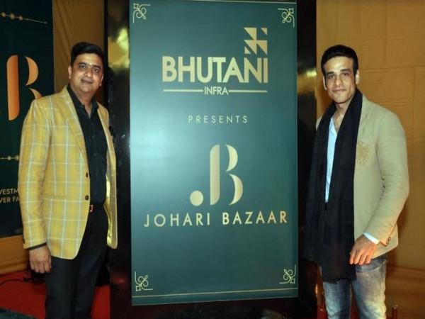 Ankush Jain, CEO & MD, Bullmen Realty and Ashish Bhutani, MD, Bhutani Group, on the launch of Johari Bazaar
