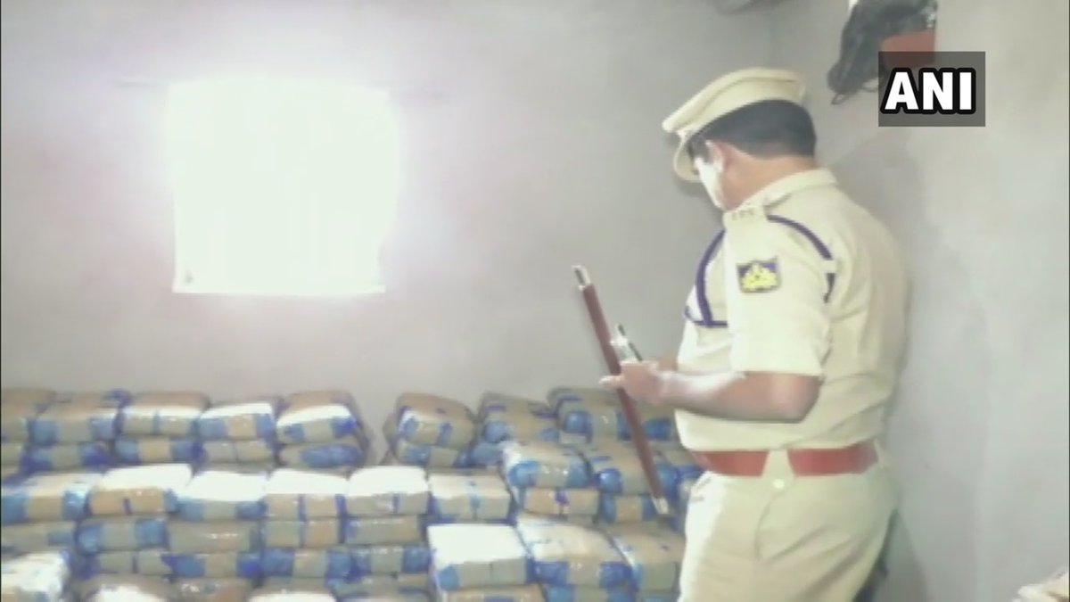 650 kg of cannabis seized by Bidar Police on Sunday. Photo/ANI
