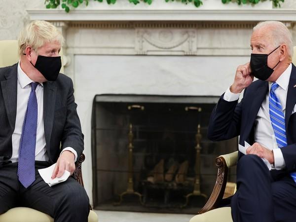 US President Joe Biden with UK Prime Minister Boris Johnson. (Photo Credit - Reuters)