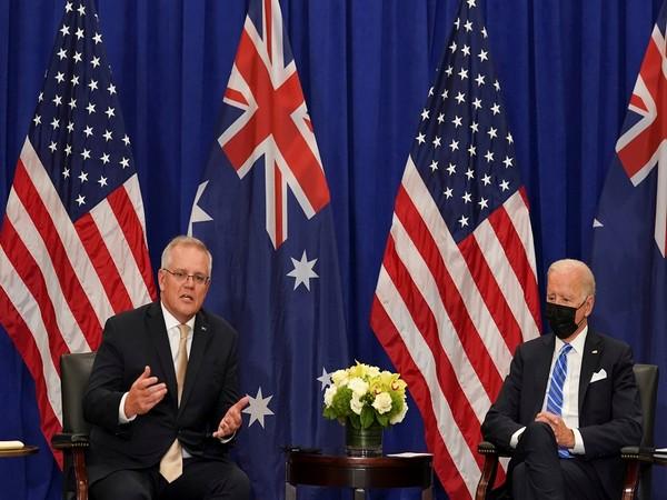 US President Joe Biden with Australian Prime Minister Scott Morrison (Photo Credit - Reuters)