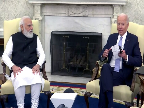 Foreign Secretary Harsh Vardhan Shringla addressing a press conference in Washington on Friday. (Photo/ANI)