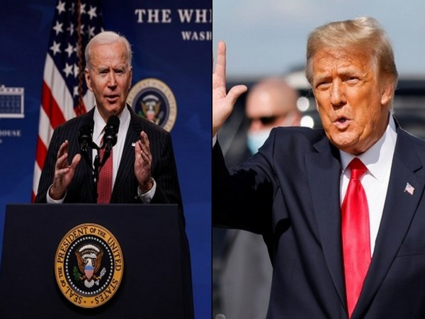 US President Joe Biden and former President Donald Trump.