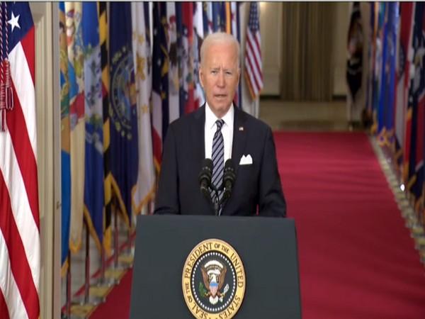 US President Joe Biden during his Prime Time Address to the nation (Photo/ANI)