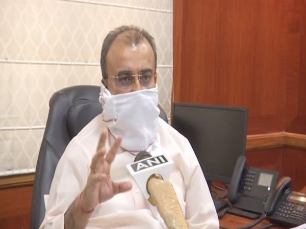 Bihar Health Minister Mangal Pandey speaking to ANI on Thursday. Photo/ANI