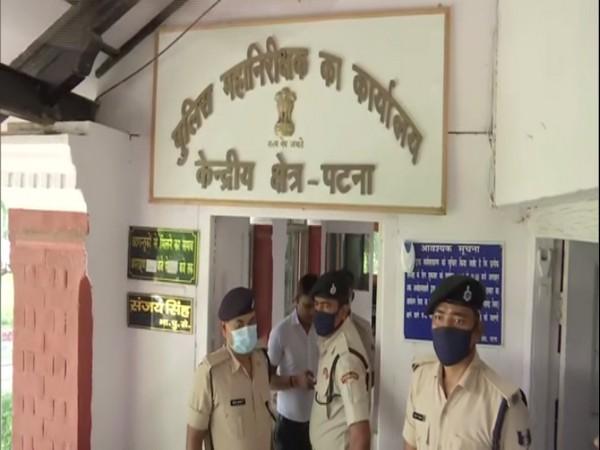 Bihar police officers reach IG Central office on Thursday. (Photo/ANI)