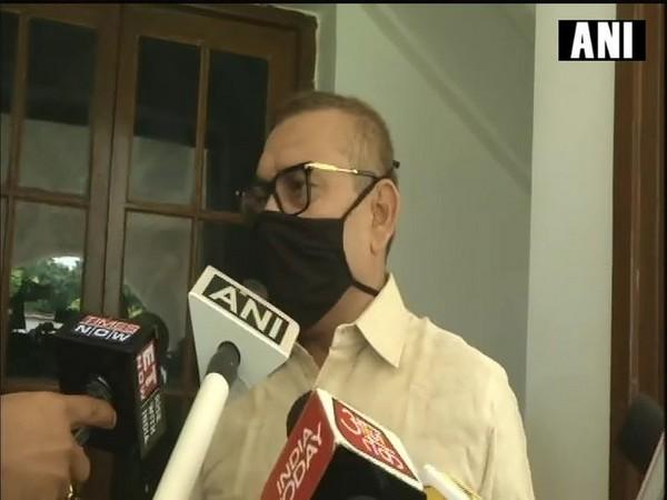 Bihar DGP Gupteshwar Pandey speaking to reporters in Patna on Wednesday. Photo/ANI