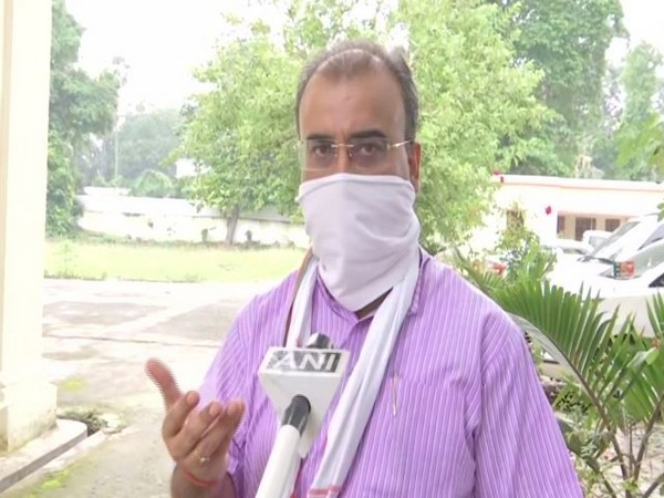 Bihar Health Minister Mangal Pandey speaking to ANI on Tuesday.