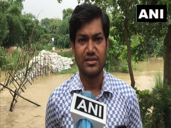 Indrajit Singh, Assistant Engineer, Bagmati division speaks to ANI on Monday. (Photo/ANI)