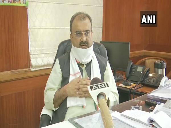 Bihar Health Minister Mangal Pandey speaking to ANI in Bihar on Thursday.  Photo/ANI