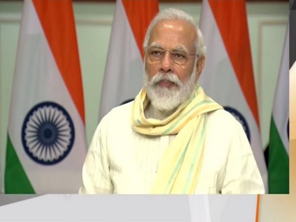 Prime Minister Narendra Modi at the launch of