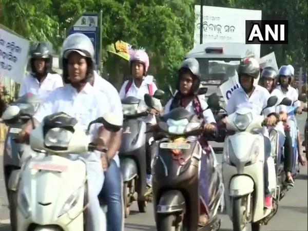 Women's bike rally in Bhubaneswar
