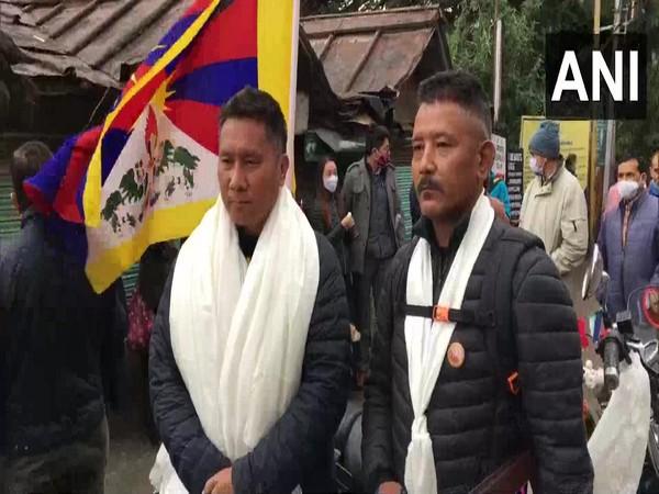 Tsering Yeshi and Chimmi Tamden at the start of bike rally (ANI)