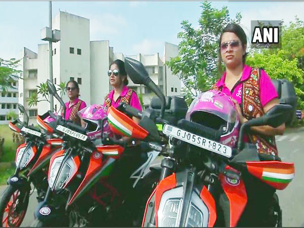 Members of Biking Queens group from Surat.