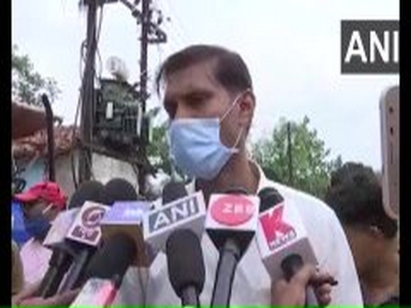 Devendra Patel, Sub Divisional Magistrate of Bilaspur speaking to reporters on Sunday. Photo/ANI