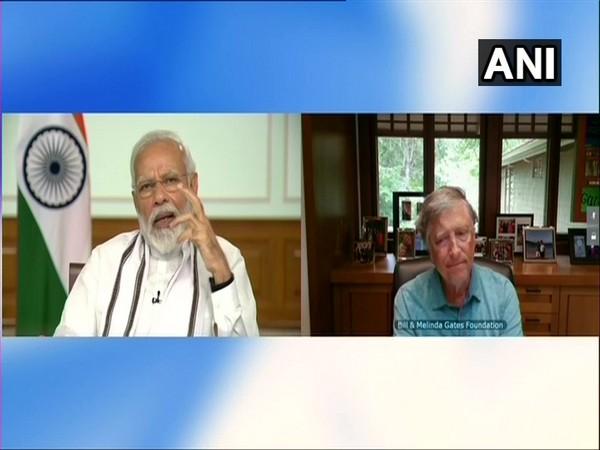 Prime Minister Narendra Modi and Philanthropist and Microsoft co-founder Bill Gates.