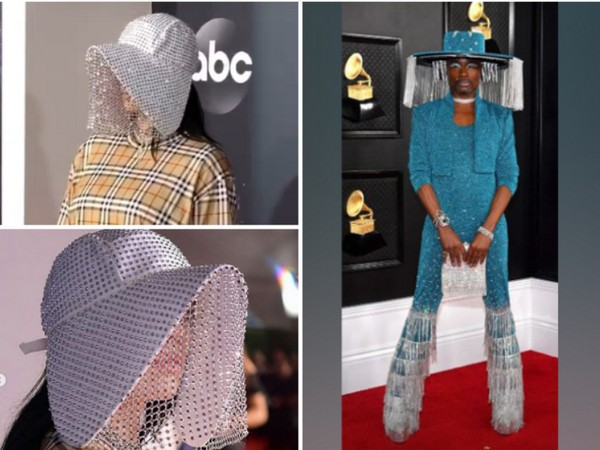 Billy Porter's mechanical fringe hat inspired from Billie Eilish (Image source: Instagram)