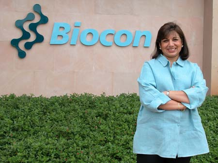 Biocon's Chairperson and Managing Director Kiran Mazumdar Shaw