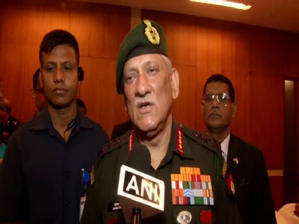 Indian Army Chief General Bipin Rawat speaking to ANI in New Delhi on Tuesday. Photo/ANI