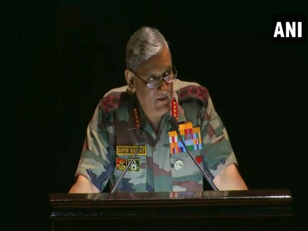 Army Chief General Bipin Rawat delivering KM Cariappa memorial lecture in New Delhi on Friday. (Photo/ANI)