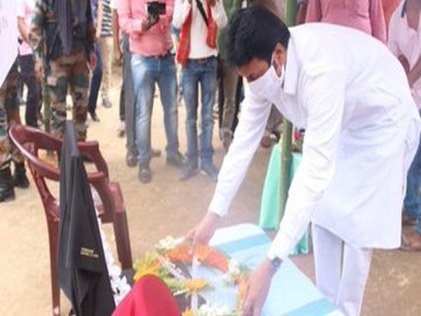 Tripura Chief Minister Biplab Kumar Deb paying homage to the Indian Army personnel on Sunday. (Credit: Tripura CM twitter)