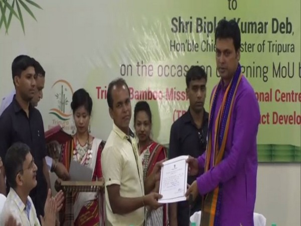 Tripura CM Biplab Kumar Deb distributed free toolkit certificate among bamboo artisans
