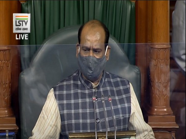 Speaker Om Birla speaking in Lok Sabha on Friday.
