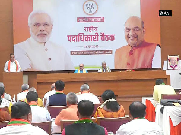 Visuals from the BJP meeting in New Delhi.