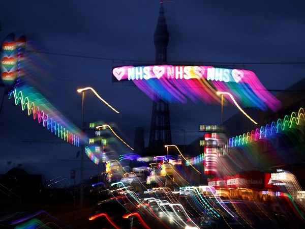 Blackpool Illuminations paying tribute to Britain's National Health Services (Photo Credit: Reuters)