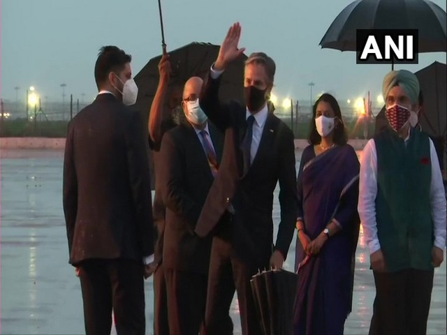 US Secretary of State Antony Blinken arrives in Delhi on a two-day official visit to India (ANI)