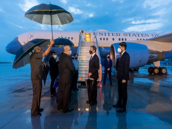 US State Secretary Anthony Blinken arrives in India (TwitterNed Price)