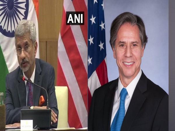 External Affairs Minister S Jaishankar and US Secretary of State Antony Blinken