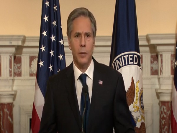 US Secretary of State Antony Blinken during his foreign policy speech on Wednesday.