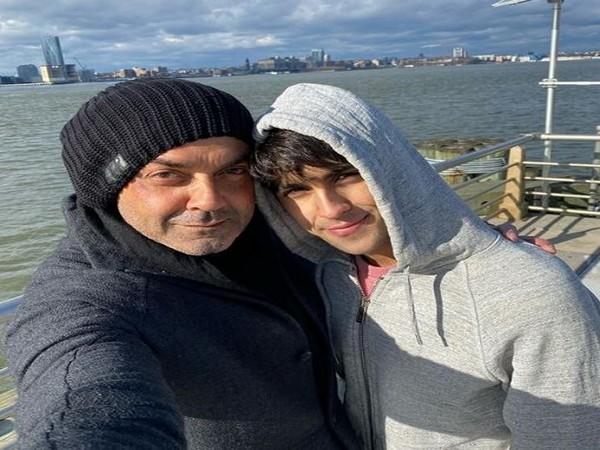 Actor Bobby Deol with son Aryaman (Photo courtesy: Instagram)