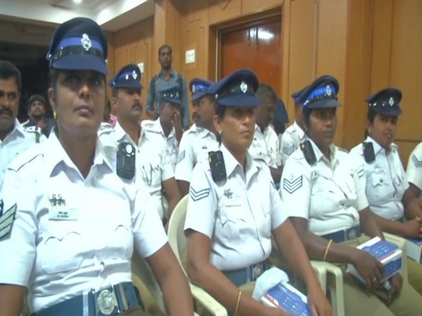 Coimbatore traffic police were provided 70 body-worn cameras yesterday.