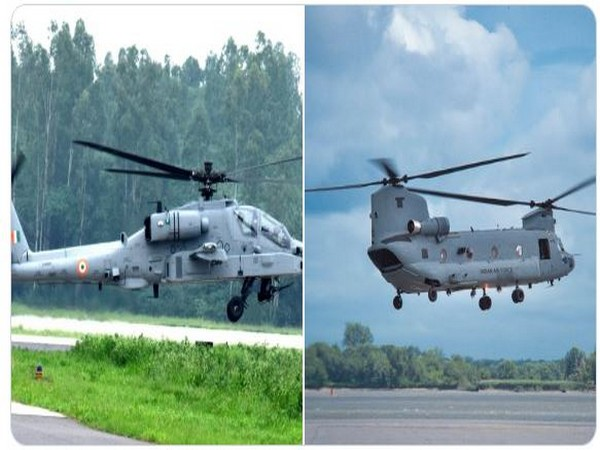 AH64E-Apache and Chinook helicopters (Photo/Boeing India)