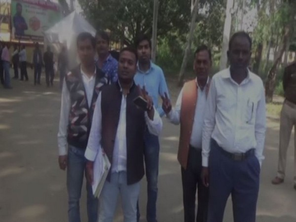 Candidates at the Bokaro Constituency on Monday.