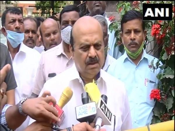 Karnataka Home Minister Basavaraj Bommai speaking to reporters in Bengaluru on Friday.